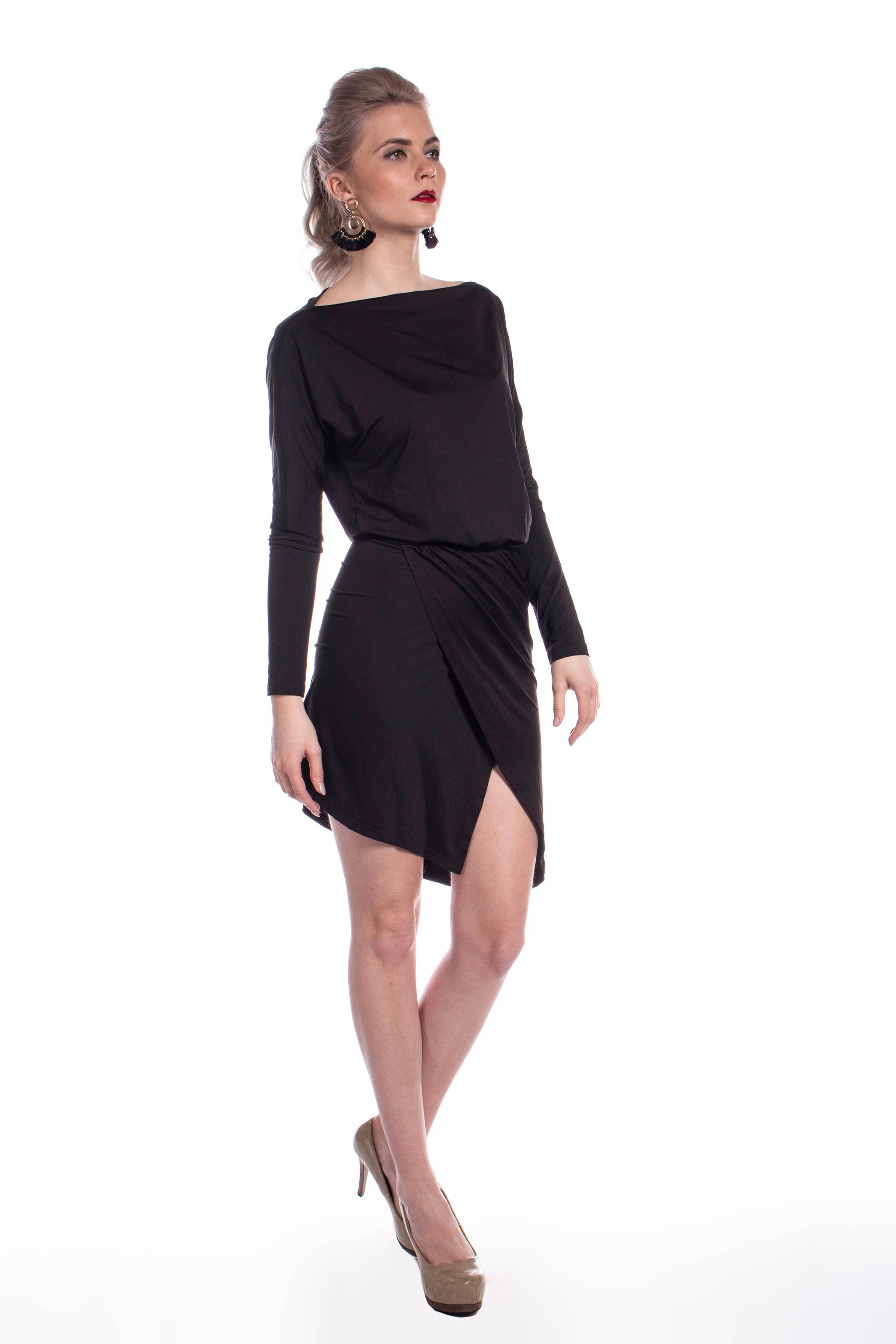 fda14331c806 obrázok 3 Missguided čierne asymetrické šaty - Shaty