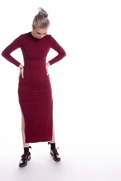 obrázok 4 New Look bordové šaty