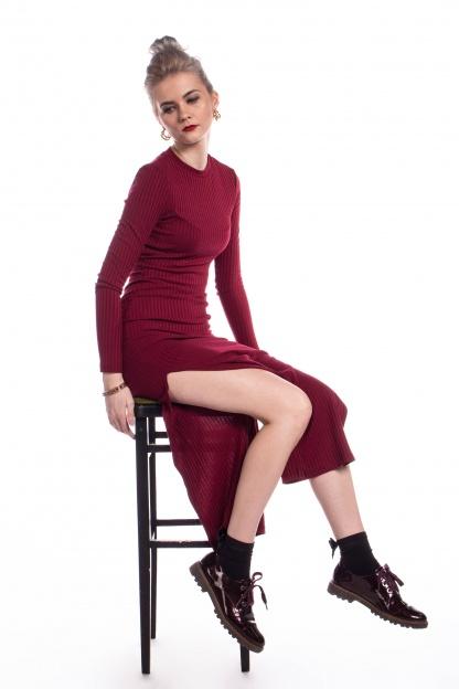 obrázok 6 New Look bordové šaty