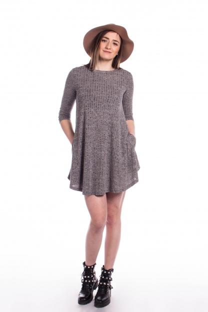 obrázok 3 New Look šedé šaty s vreckami
