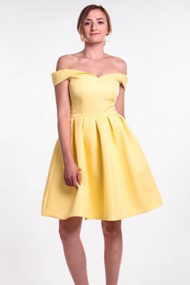 Obrázok 1 Chi-Chi London žlté šaty