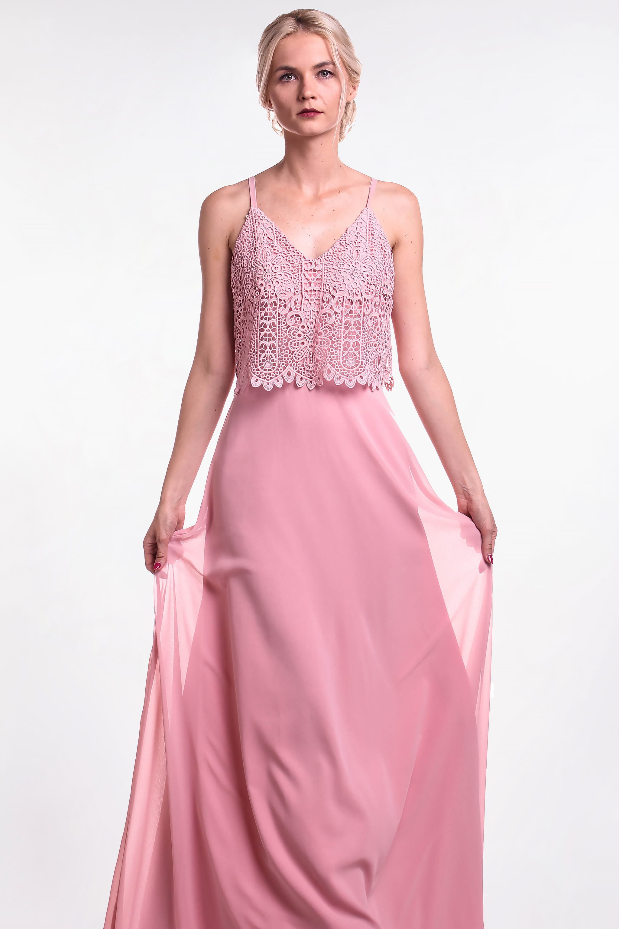 Chi-Chi London ružové maxi šaty (požičanie) - Shaty fadea68d9ea