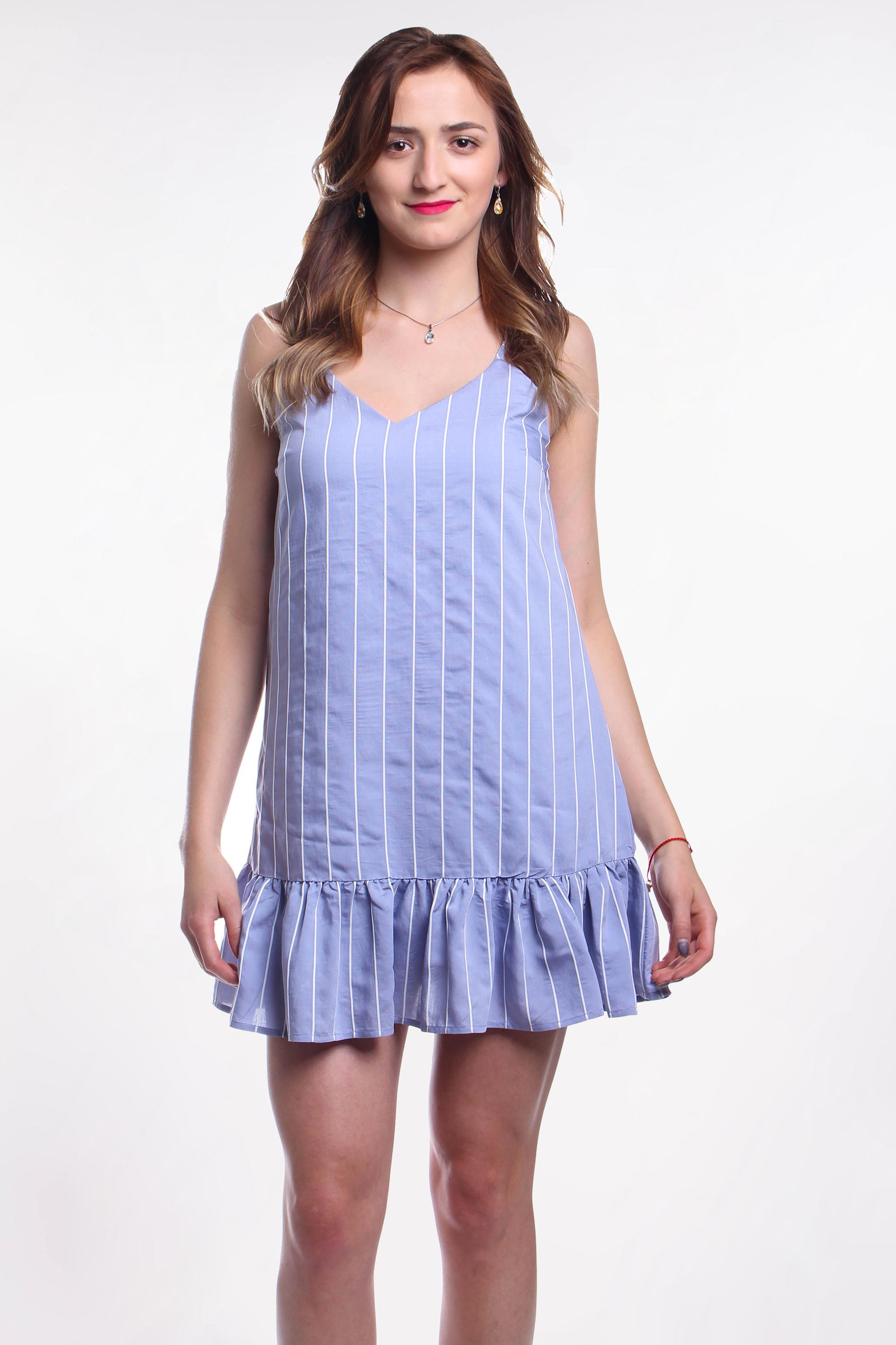 Obrázok 1 New Look modré šaty s volánom fa59119a1ab