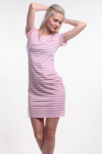 Obrázok 1 New Look ružové pruhované šaty