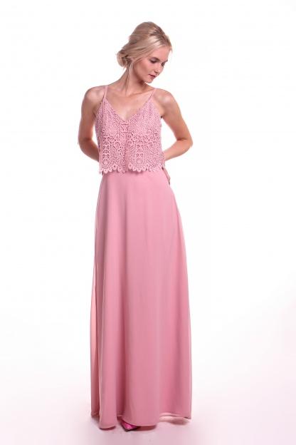 Obrázok 2 Chi-Chi London ružové maxi šaty
