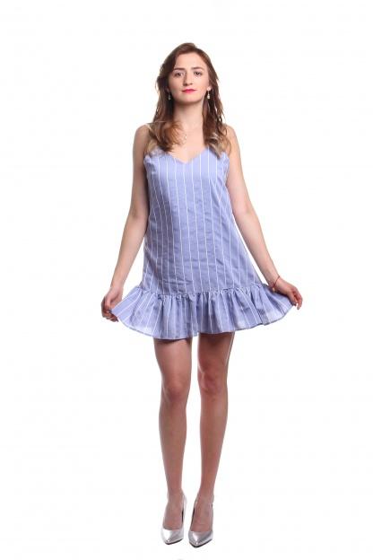 Obrázok 2 New Look modré šaty s volánom