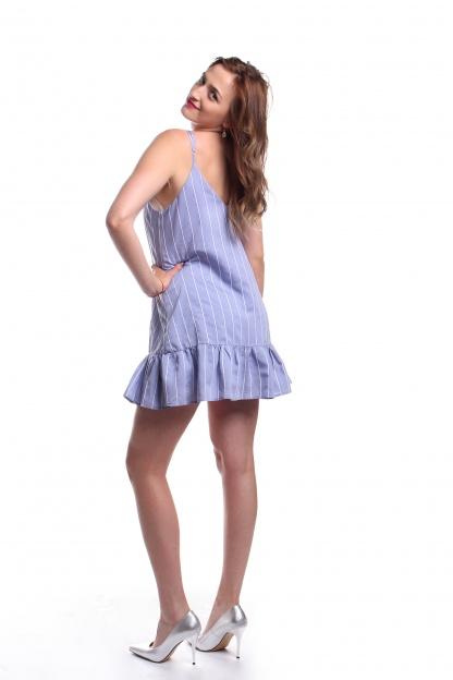 Obrázok 3 New Look modré šaty s volánom