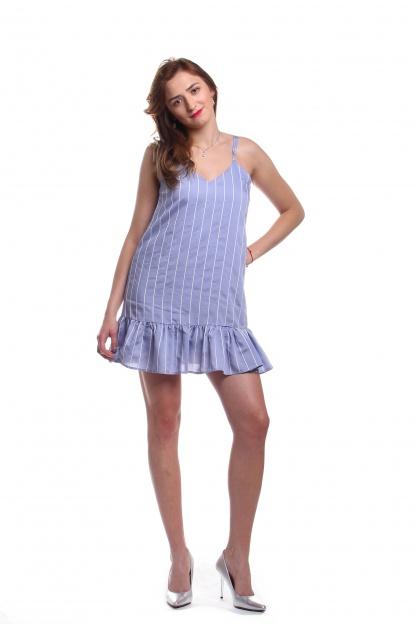 Obrázok 5 New Look modré šaty s volánom