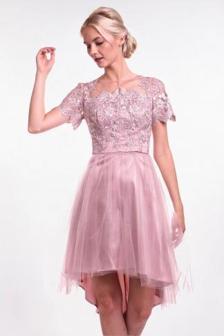89a5d2eec40 Chi-Chi London béžovo-zlaté čipkované šaty - Shaty