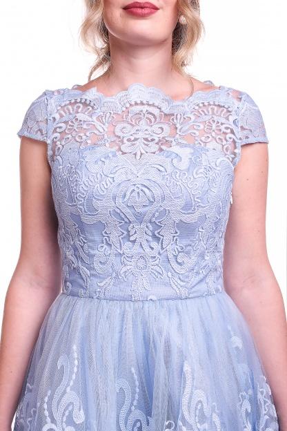 Obrázok 3 Chi-Chi London modré čipkované šaty