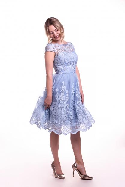 Obrázok 5 Chi-Chi London modré čipkované šaty