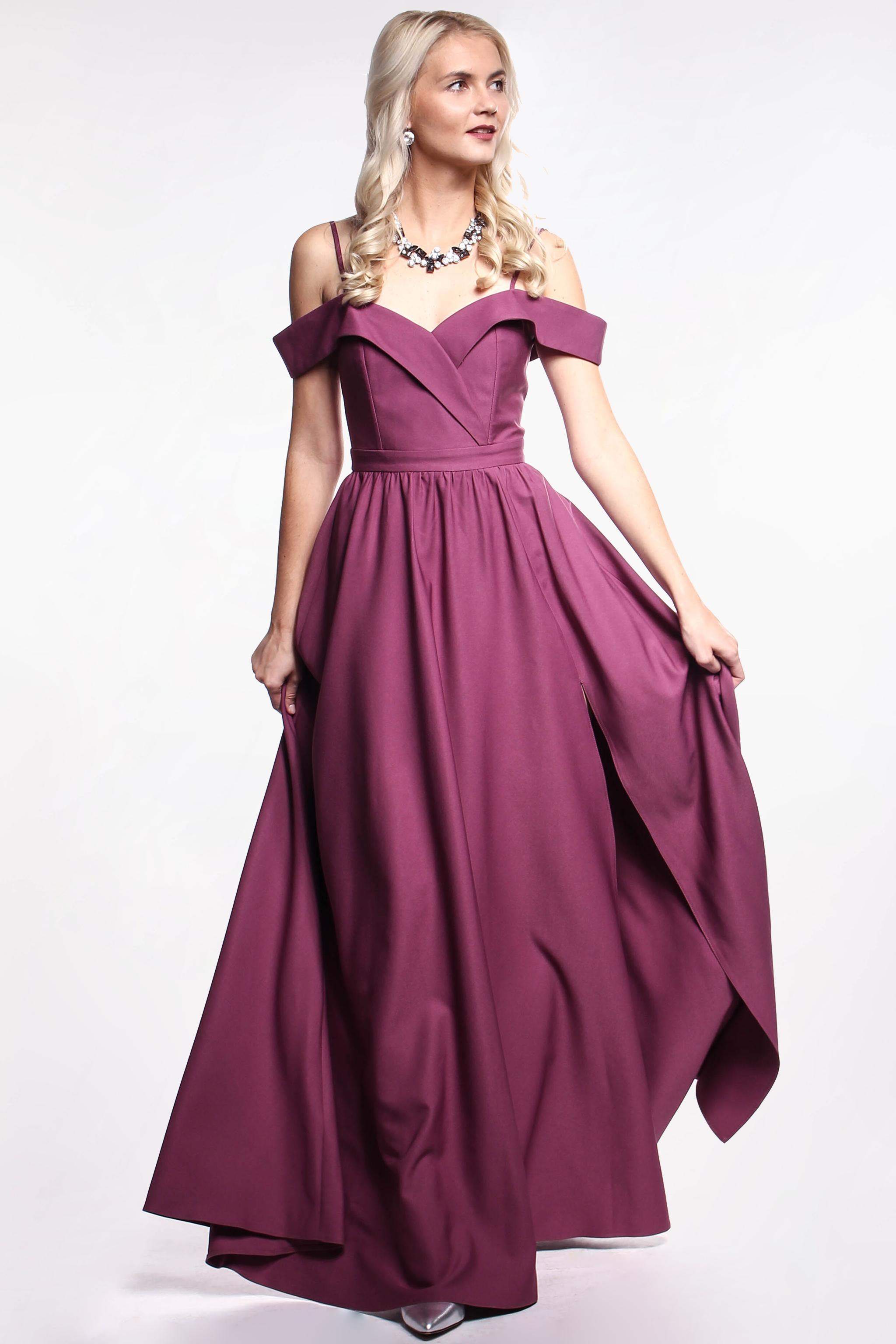 10a313f428d9 Obrázok 1 Fialové plesové šaty