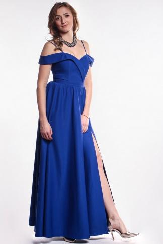 476f6df5768af Modré šaty s volánom - Shaty