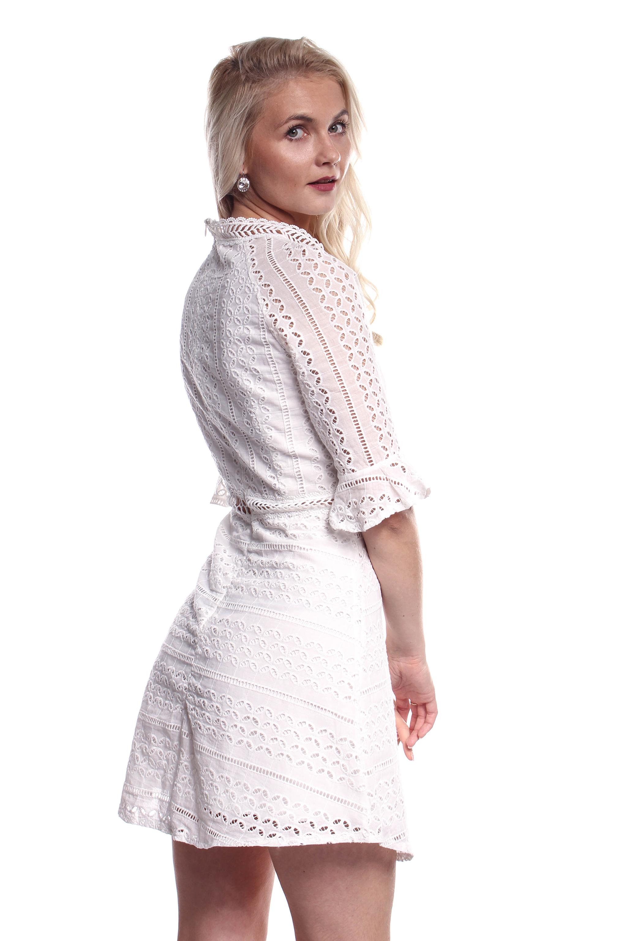 f76d17f85659 Obrázok 3 Biele háčkované mini šaty
