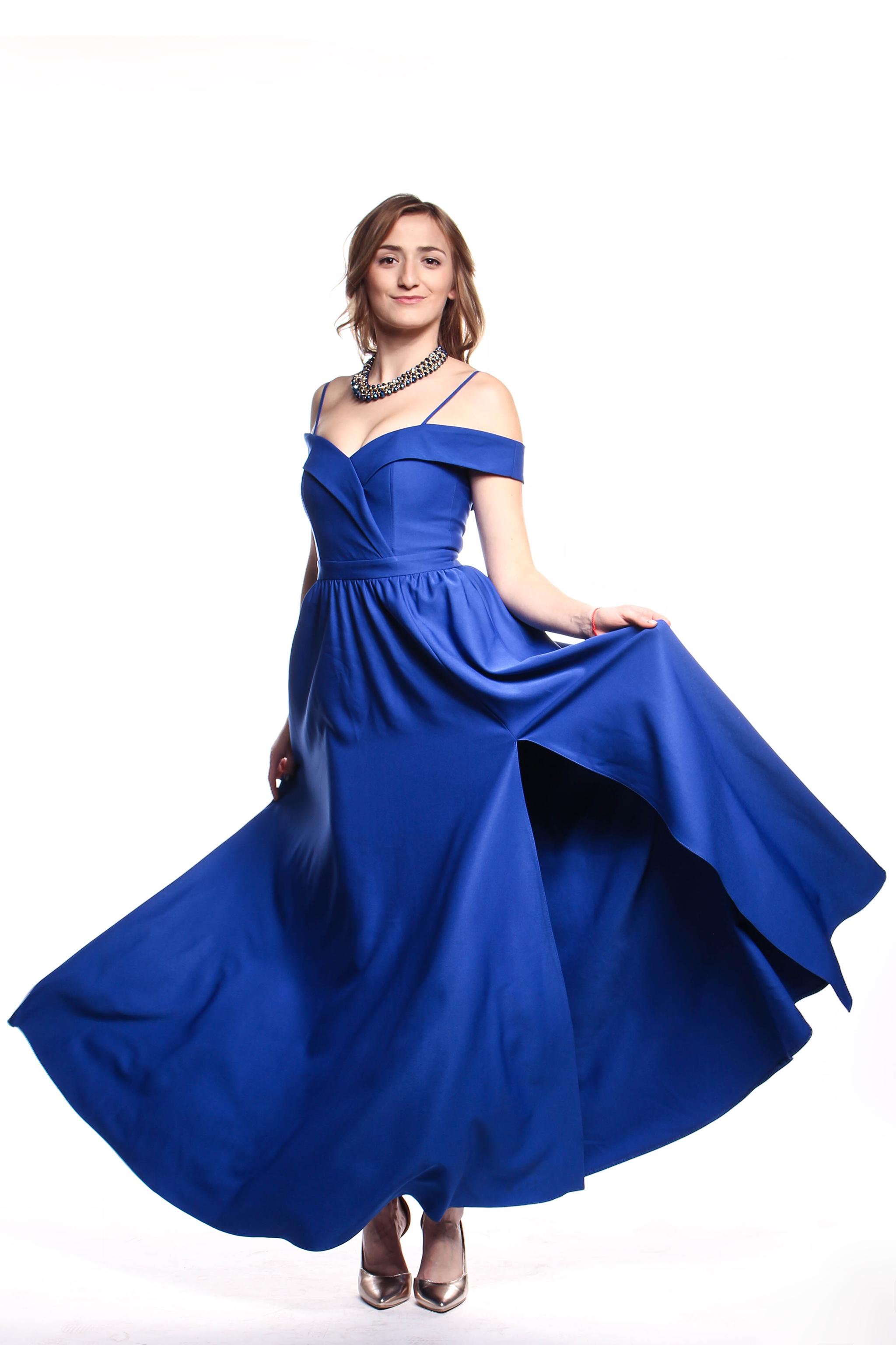 Obrázok 3 Modré plesové šaty - Shaty 636c6a6f2a4