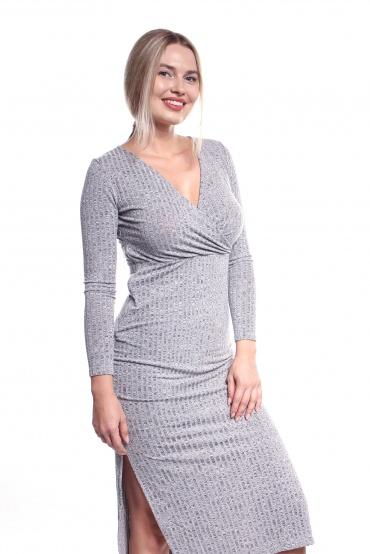 Obrázok 5 Šedé elastické midi šaty