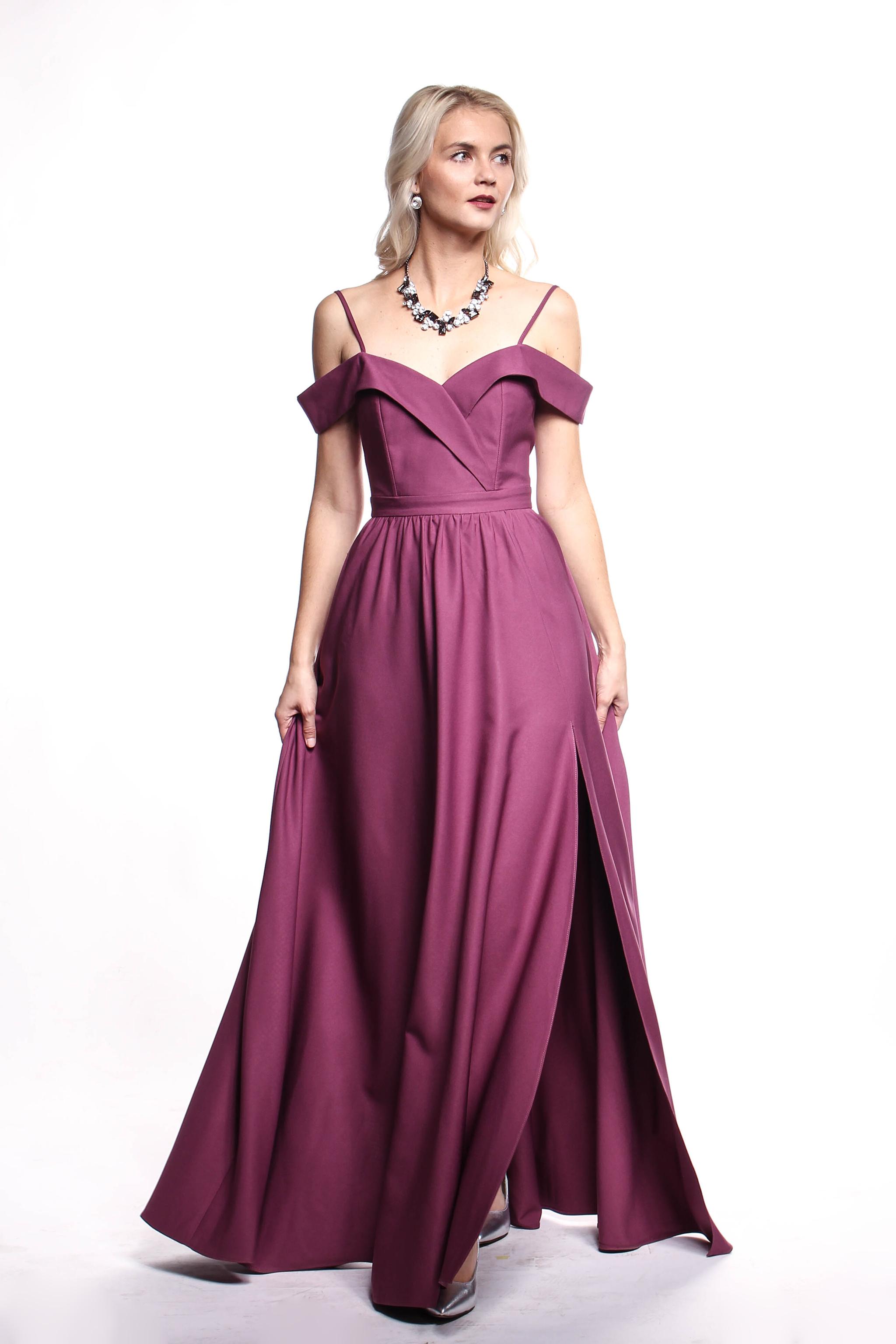 4439d682188c Obrázok 5 Fialové plesové šaty