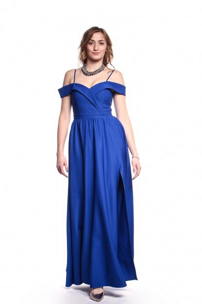 Obrázok 5 Modré plesové šaty