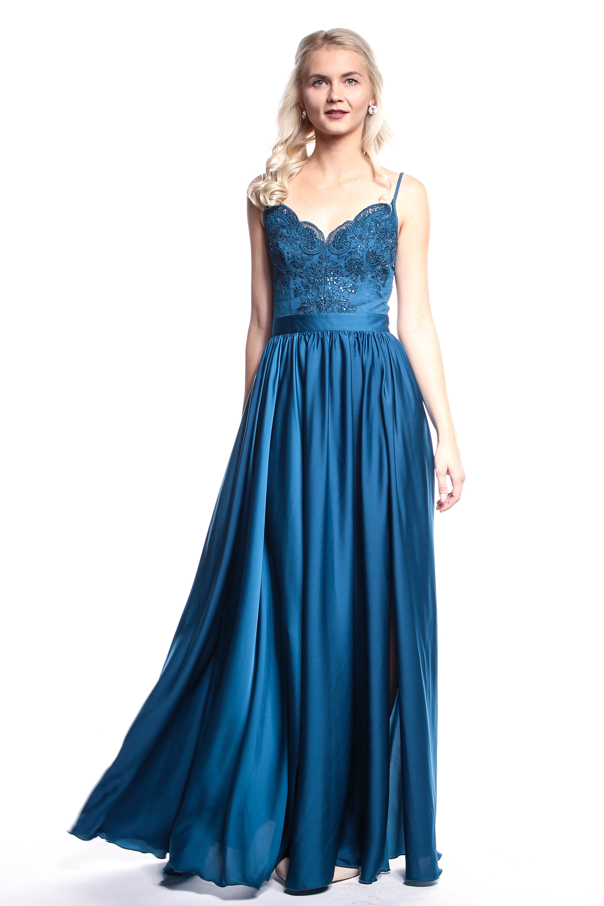 Tyrkysové plesové šaty (požičanie) - Shaty 2b2c5b00c37