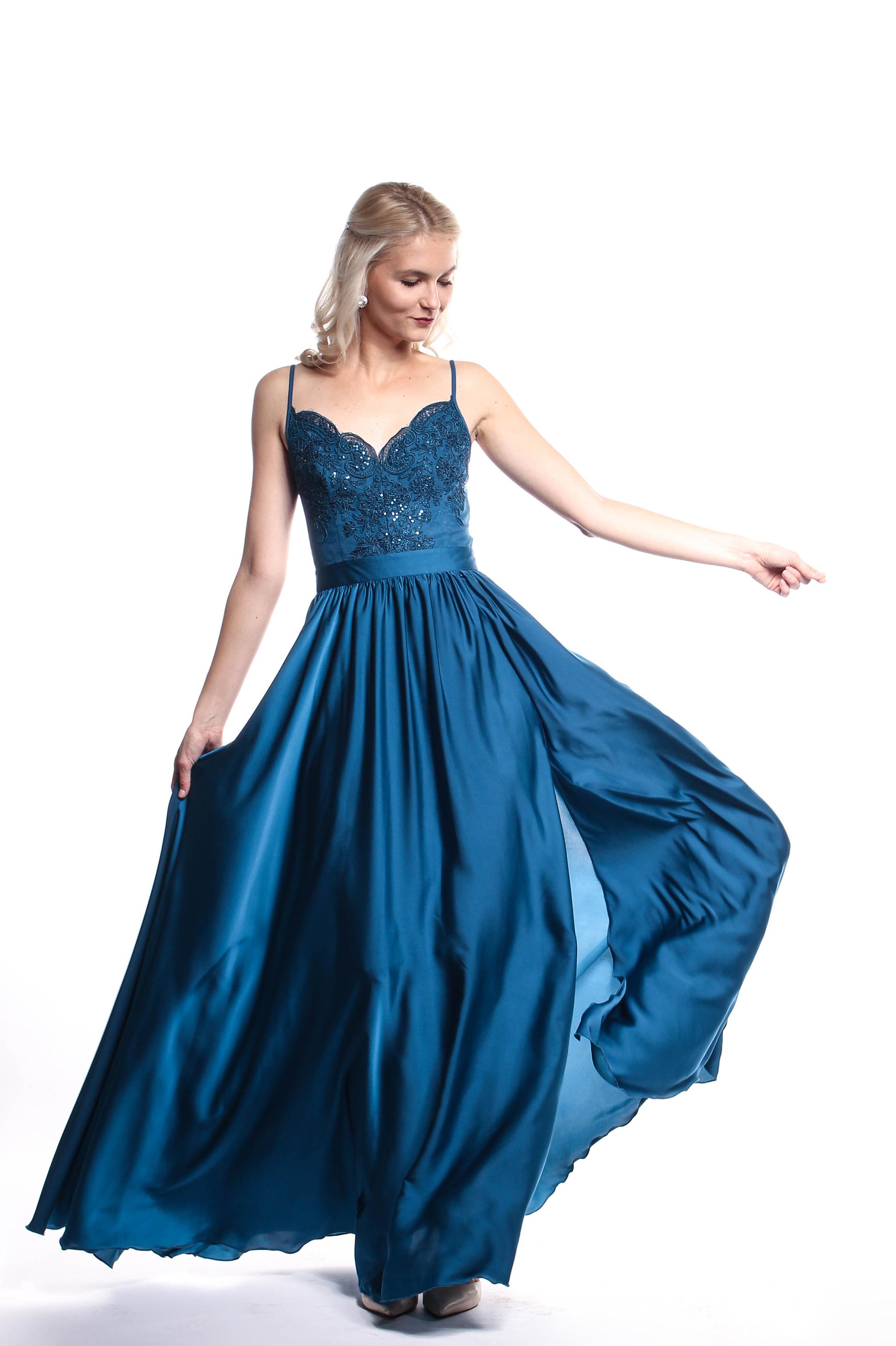 aa6c3e67d Obrázok 6 Tyrkysové plesové šaty - Shaty
