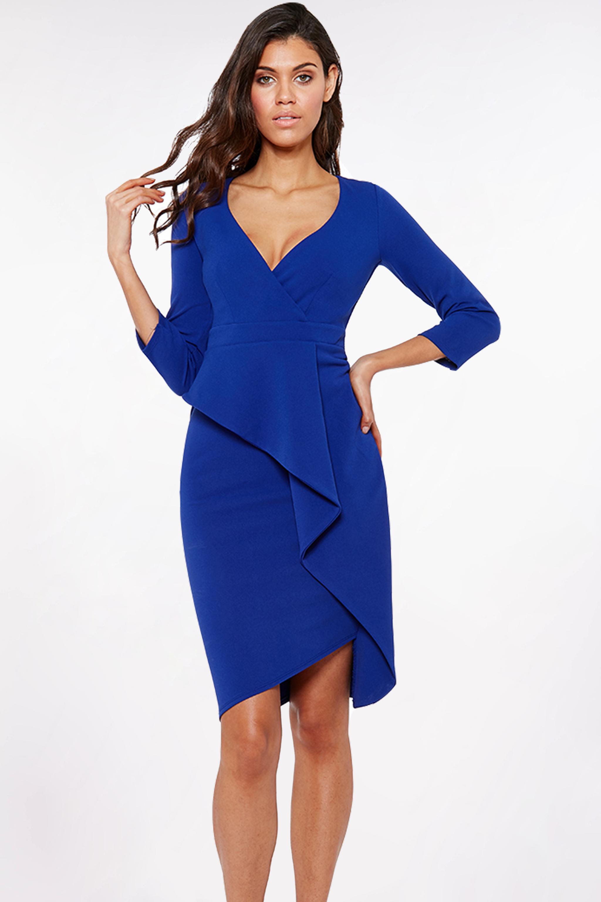 Obrázok 1 Modré šaty s volánom f7f404cc35d