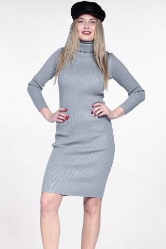cdc0087ec310 Šedé elastické midi šaty - Shaty