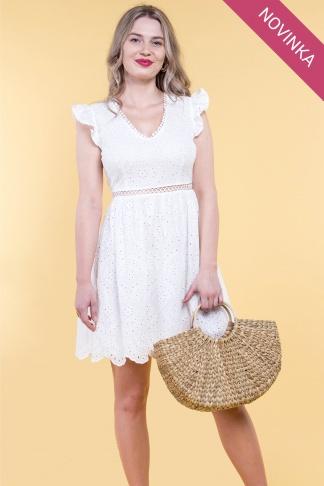 c310458975de Biele šaty s holým chrbátom